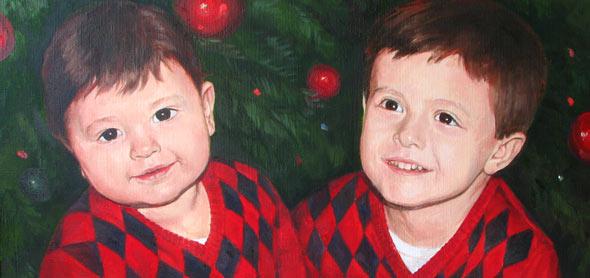 Портреты детей Кравченко