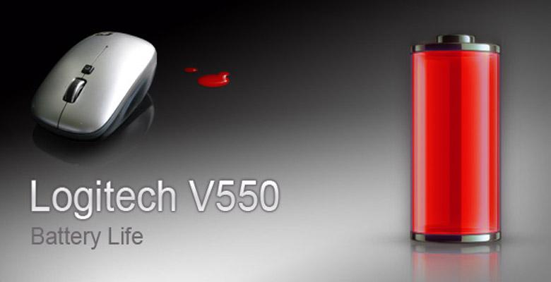 Заряд батарей Logitech V550 спустя 9 месяцев!